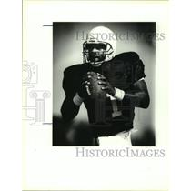 1993 Press Photo Houston Oilers football quarterback Warren Moon - sas13228