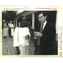 1991 Press Photo Nicole Deggins & Quin Hillyer at the Georgetown Cocktail Party