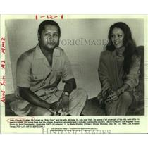 1985 Press Photo Jean-Claude Duvalier and wife Michelle in Haiti - nop29986