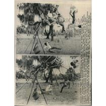 1963 Press Photo The high wire Wallendas attempt a human pyramid - mjc23475