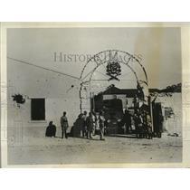 1931 Press Photo Bombarded entrance to the barracks of 1st Machine Gun Battalion