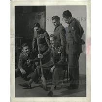 1912 Press Photo U.S Enlisted Pilots at Maxwell Field Air Corps Training Center