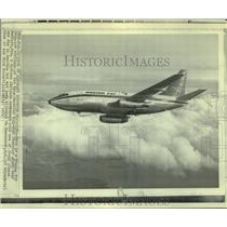1971 Press Photo A Boeing 737 twin-jet airliner similar to one recently hijacked