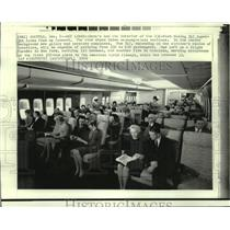 1969 Press Photo The interior of the new 231-foot Boeing 747 Superjet