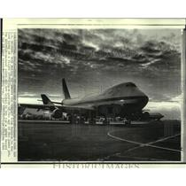 1969 Press Photo A new jumbo jet Boeing 747 prepares to take off in Seattle