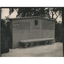 1914 Press Photo Goethe Memorial Vienna Austria- RSA79503