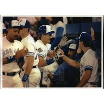 1992 Press Photo Toronto Blue Jays - Pat Borders, Others, World Series Game