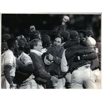 1993 Press Photo Toronto Blue Jays - Players After American League Playoff Game