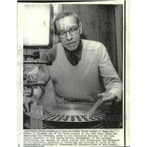 1969 Press Photo Dr. Alfred Hershey, Nobel winner for physiology & medicine