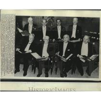 1967 Press Photo Haldan Hartline & other Nobel Prize winners in Stockholm