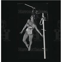 1961 Press Photo Hamid-Morton Shriner Circus Daredevil Performer Betty Boatright