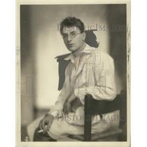1928 Press Photo Artist Girolamo Piccoloi.