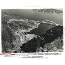 1994 Press Photo Roosevelt Dam in Phoenix, Arizona being renovated