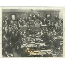 1933 Press Photo Wisconsin Farmers Vote To Continue Milk Strike