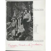 1861 Press Photo Frederick Jackson Turner & Girl in Woods, Wisconsin Historian