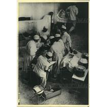 1904 Press Photo Dr. William Halsted, operating room at Johns Hopkins Hospital