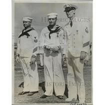 1938 Press Photo Peterson And Mate Coleman Given Navy Awards After Heroism