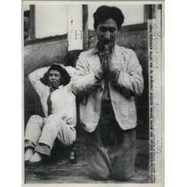 1950 Press Photo A North Korean soldier captured by 187 Airborne Regiment