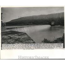 1938 Press Photo The Hales Bar Dam in Knoxville, Tennessee