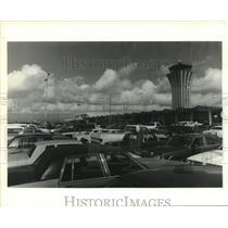1985 Press Photo Full Parking Lot at Robert Mueller Airport in Austin Texas