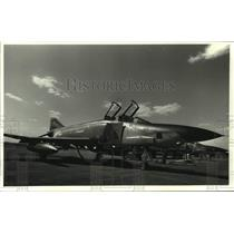 1982 Press Photo RF-4 jet at Duluth Air Base for practice reconnaissance