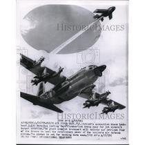 1969 Press Photo Artist Conception of Lockheed C-130 Hercules hurling Rayn Jet