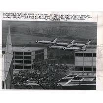 1965 Press Photo Air Force Acrobatic Thunderbirds at 7th Air Force Graduation