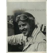 1932 Press Photo Jimmy Haizlip Sitting In Cockpit Of Plane Ready To Race