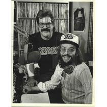 1984 Press Photo Keith Abdul Harmon and Jim Rodio of WQFM radio. - mjp21198