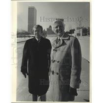 1984 Press Photo Gordon Hinkley and Jim Tate - mjp21278