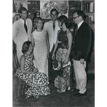 1972 Press Photo Mr. and Mrs. Drayton Nabers Jr., with Others from Missouri