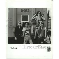 """1983 Press Photo Rock group """"D-Day"""" - hcp01013"""