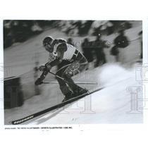 1992 Press Photo Heinz Kluetmeier Olympic downhill skier - mjp26993