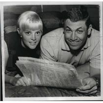 1967 Press Photo Washington Senators Baseball - Mike Epstein and Wife Barbara
