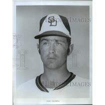 1974 Press Photo American baseball's Mike Caldwell of the San Diego Padres