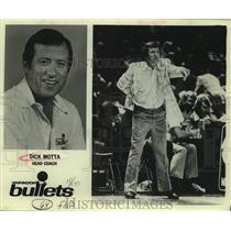 1980 Press Photo Dick Motta, head coach, Washington Bullets basketball