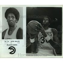 "Press Photo Atlanta Hawks basketball player Wayne ""Tree"" Rollins - sas14266"
