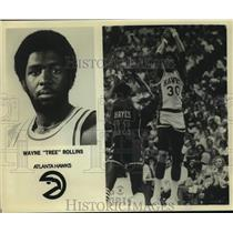 "Press Photo Atlanta Hawks basketball player Wayne ""Tree"" Rollins - sas14263"