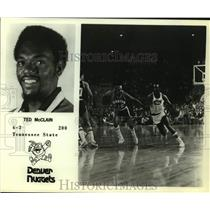 Press Photo Denver Nuggets basketball player Ted McClain - sas14800