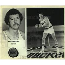 Press Photo Houston Rockets basketball center Paul Mokeski - sas14475