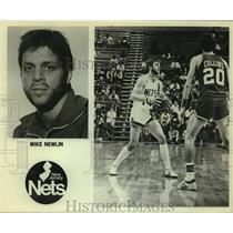 Press Photo New Jersey Nets basketball player Mike Newlin - sas14247