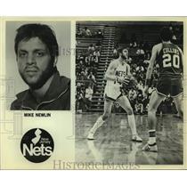 Press Photo New Jersey Nets basketball player Mike Newlin - sas14248