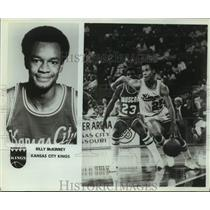 Press Photo Kansas City Kings basketball player Billy McKinney - sas14018