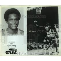 Press Photo New Orleans Jazz basketball player Jim McElroy - sas14796