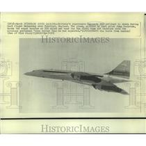 1970 Press Photo Britain's supersonic Concorde 002 jetliner during a test flight