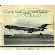 1970 Press Photo A British Overseas Airways Corp. VC10 jet plane taking off