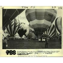 1979 Press Photo Balloons grounded at the Great Midwest Hot Air Balloon Rally