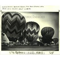 1983 Press Photo Balloons prepare for a race across the lake from UNO