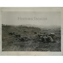 1934 Press Photo Italian Volunteer Militia in action during maneuvers