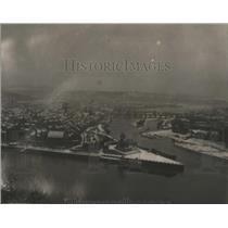 1920 Press Photo Coblenz from the Citadel of Port Ehrenbreistein Germany